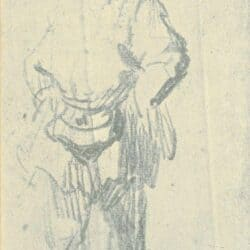 Rembrandt drawing, Standing Man with a Pouch;