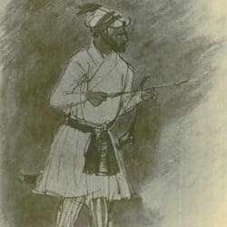 Rembrandt drawing, Indian Archer;