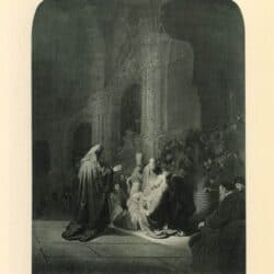 Rembrandt painting Simeons song of praise