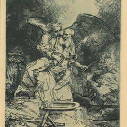 Rembrandt etching, Bartsch B. 35, Abraham's Sacrifice
