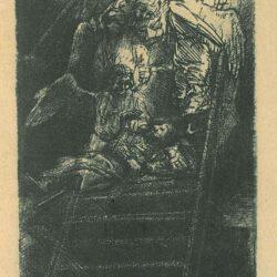 Rembrandt ets, Bartsch B. 36 c, De Ladder Jacobs