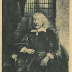 Rembrandt etching, Bartsch B. 274, Portrait of Thomas Haaringh ['Old Haaringh'; died 1660]