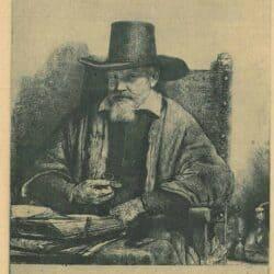 Rembrandt ets, Bartsch B. 284, portret van de inspecteur Arnold Tholinx (?-1679)