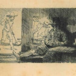 Rembrandt ets, Bartsch B. 125, Het kolfspel