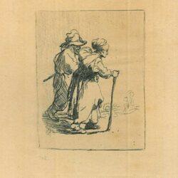 Rembrandt ets, Bartsch B. 144, Twee landlopers, een man en een vrouw
