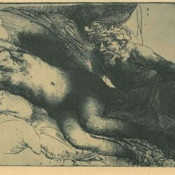Rembrandt Etching Bartsch B. 203, Jupiter and Antiope: the larger plate