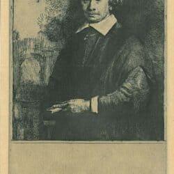 Rembrandt, Etching, Bartsch B. 264, Portrait, Jan Antonides van der Linden (1609-1664)