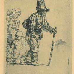 Rembrandt Etching, Bartsch B. 131,