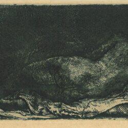 Liggende negerin, Rembrandt Ets, Bartsch, B. 205