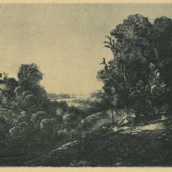 De vlucht naar Egypte: op een plaat van Seghers, Rembrandt, ets, Bartsch, B. 56