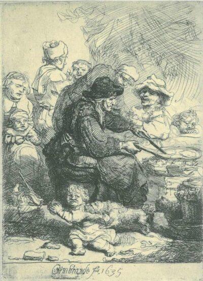 Rembrandt, etching, Bartsch B. 124,