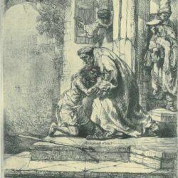 Rembrandt, etching, Bartsch B. 91,