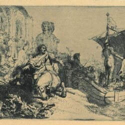 Rembrandt Etching, bartch b. 111, The ship of fortune
