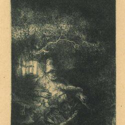 Rembrandt ets, Bartsch B. 57, Rust op de vlucht naar Egypte: nachtstuk