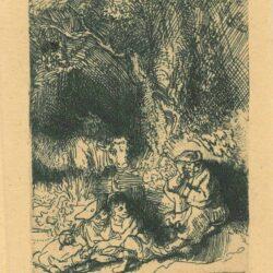 Rembrandt, Etching, Bartsch B. 189, The sleeping herdsman