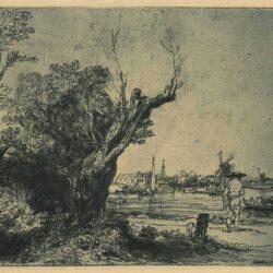 Rembrandt Ets Bartsch B. 228, De Omval