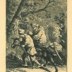 Rembrandt, etching, Bartsch B. 52, The flight into Egypt: the small plate