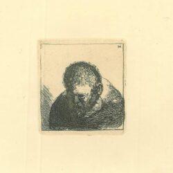 Rembrandt Etching Bartsch B. 296, Man met baard