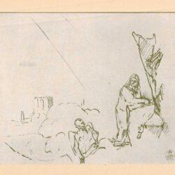 Rembrandt, tekening, De verzoeking van Christus