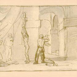 Rembrandt, tekening, hofstede groot 222, De geseling van Christus