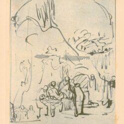 Rembrandt, tekening, hofstede de groot 225, De graflegging van Christus