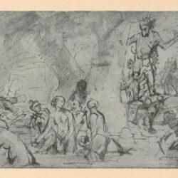 Rembrandt, tekening, hofstede de groot 240, Diana en Actaeon