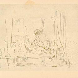 Rembrandt, tekening, hofstede de Groot 242, Juda en Tamar