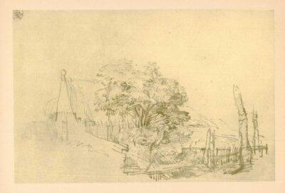Hofstede de Groot, no. 287, tekening, Boom voor een boerenhoeve