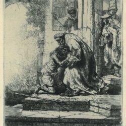 Rembrandt, etching, Bartsch B. 91, New Hollstein 159,