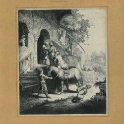 Rembrandt, etching, New Hollstein 116, copy h, Bartsch B. 90, The good Samaritan