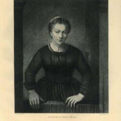 Rembrandt, painting, Samuel van Hoogstraten - Young woman at an open half-door