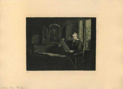 Rembrandt Etching Bartsch B. 273, Abraham Francen, apothecary [born 1613]