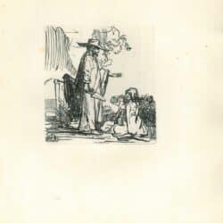 Rembrandt, tekening, Benesch929, hofstede de groot 226, Christus verschijnt als tuinman aan Maria Magdalena