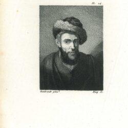 Rembrandt, schilderij, Borststuk van een man met bontmuts