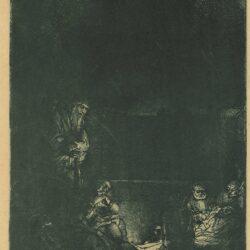 Rembrandt, ets, bartsch b. 86, de graflegging
