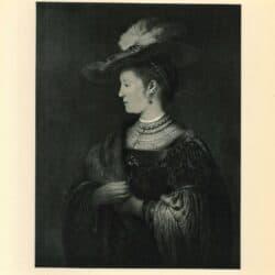 Rembrandt painting,  Portrait of Saskia van Uylenburgh