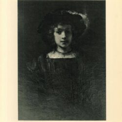 Rembrandt painting of Titus A boy in fanciful costume