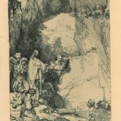 Rembrandt Etching, Bartch B. 72, The raising of Lazarus: the small plate