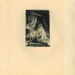 Rembrandt, Ets, Bartsch B. 41, David in gebed