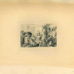 Rembrandt, Ets, Bartsch B. 64, Jezus en de schriftgeleerden
