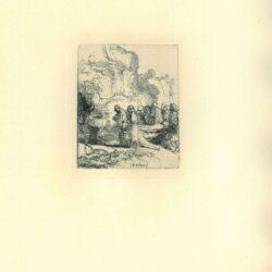 Rembrandt, Ets, Bartsch B. 84, Christus ten grave gedragen
