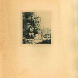 Rembrandt, Ets, Bartsch B. 71, Christus en de Samaritaanse vrouw: tussen ruïnes