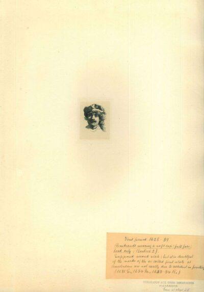Rembrandt, Ets, Bartsch B. 2, Zelfportret met pet