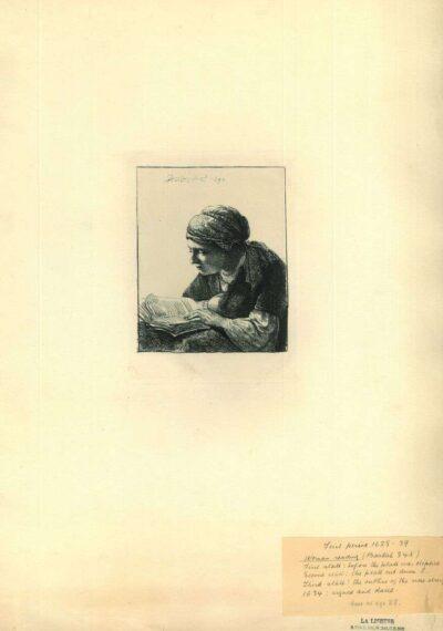 Rembrandt, Ets, Bartsch B. 345, Lezende vrouw