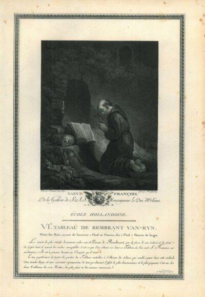 Rembrandt, Painting, Saint Francis praying