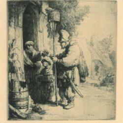 Rembrandt, etching, Bartsch b. 121,
