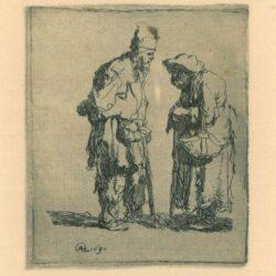 Rembrandt, etching, Bartsch b. 164,