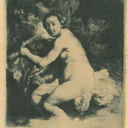 Rembrandt, etching, Bartsch b. 201,