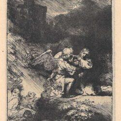Rembrandt Ets, Bartsch B. 75, Christus in de Hof van Getsemane