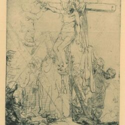 Rembrandt Etching, Bartch B.82, The descent from the cross: a sketch